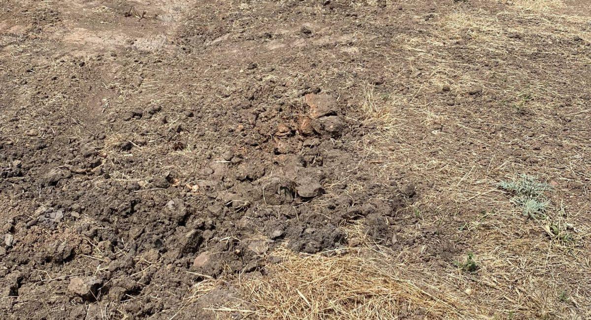 Sandy Creek Erosion Control Swale Drain Before (cropped)